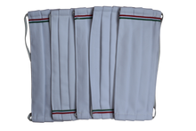 Set 5 face masks white tricolore Cotton