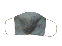Silk jacquard shell face mask - Windrose light blue