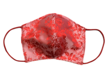 Silk Jacquard shell face mask - Milo pink