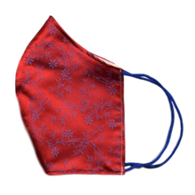 Silk Jacquard shell face mask - Nicolosi Red