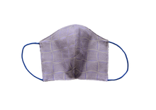 Silk jacquard shell face mask - Windrose lilac