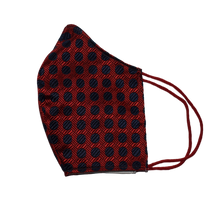 Shell Mask Red polka dots 100% silk