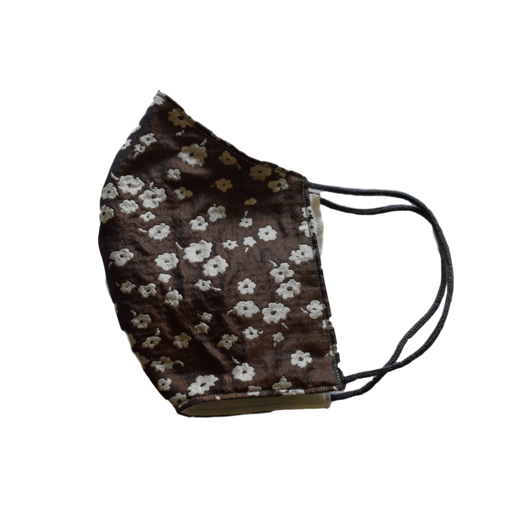 Shell Mask Flower Brown 100% silk