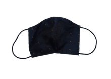 Shell Mask Paisley Classic Navy 100% silk