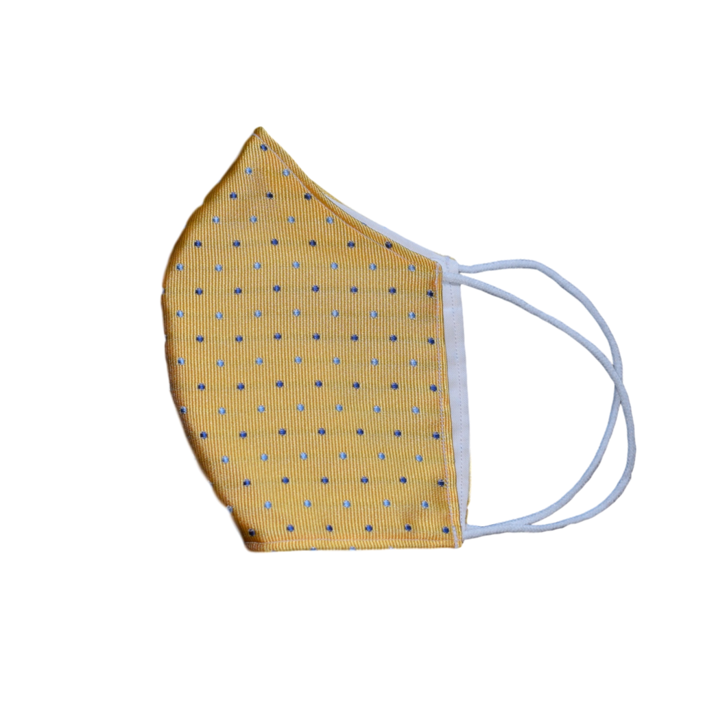 Shell Mask Cavour Yellow 100% silk
