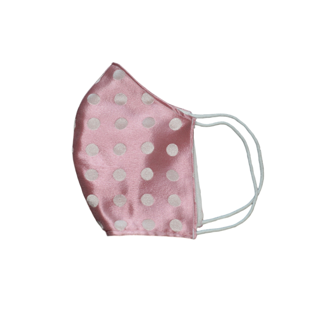 Shell Mask Pink Polka 100% silk