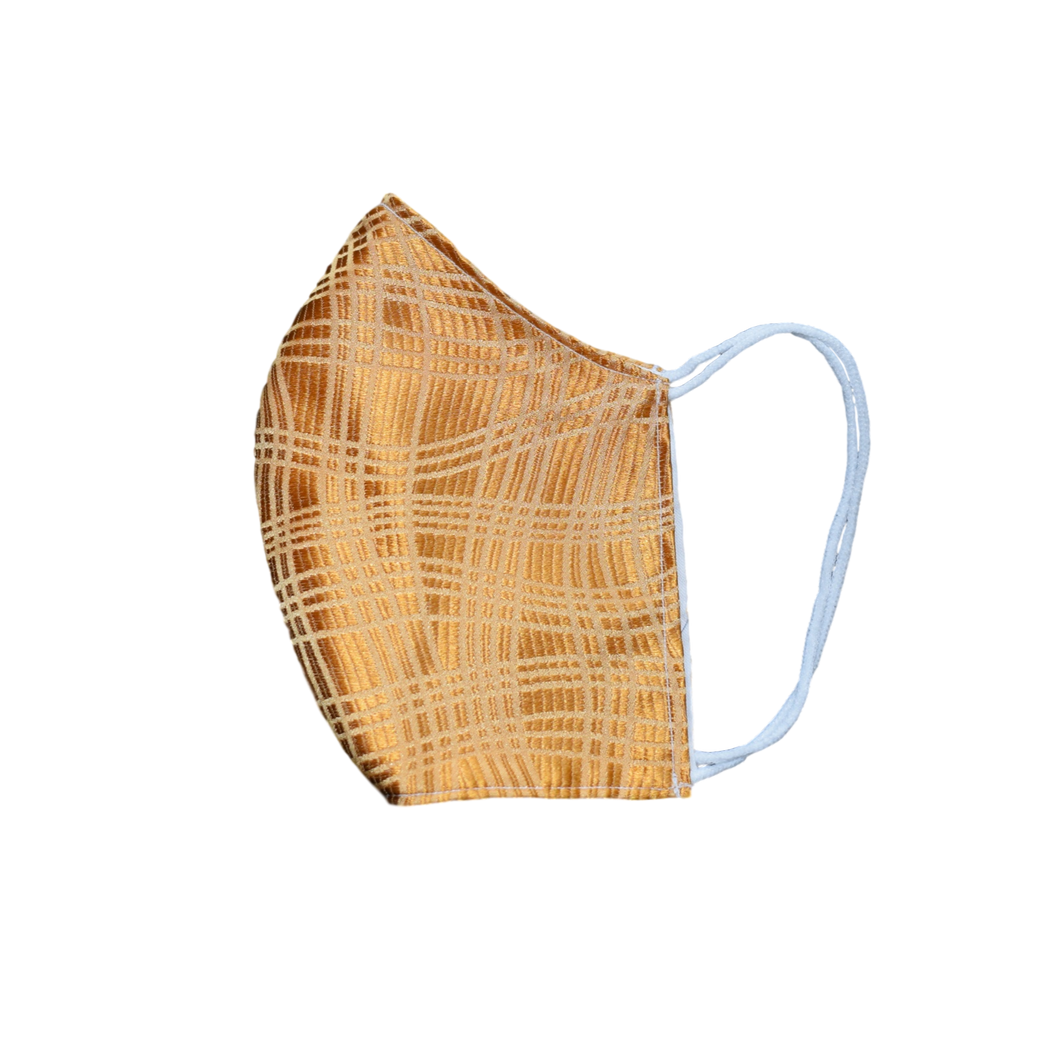 Shell Mask Orange Texture 100% silk