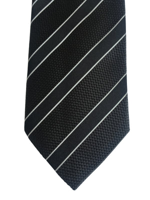 Striped 3 folds tie jacquard - Cirimido