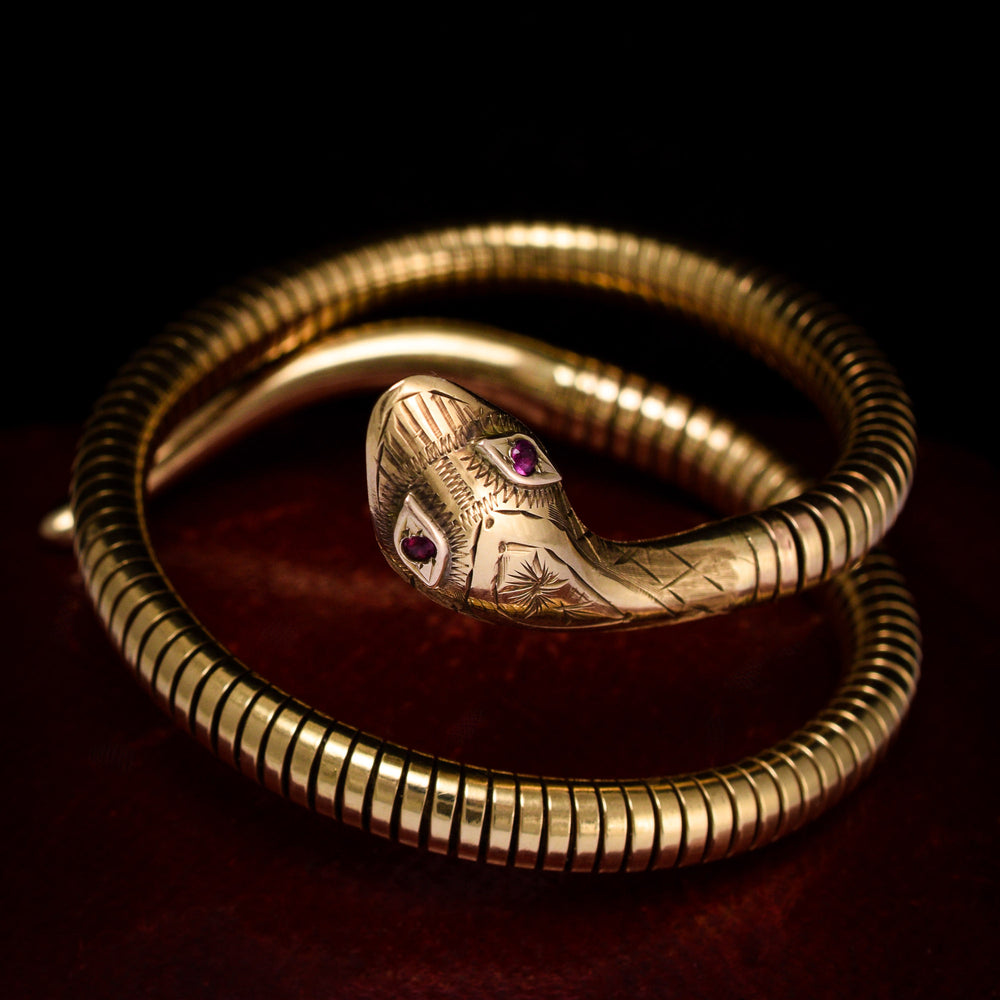 Vintage Expandable Snake Bangle