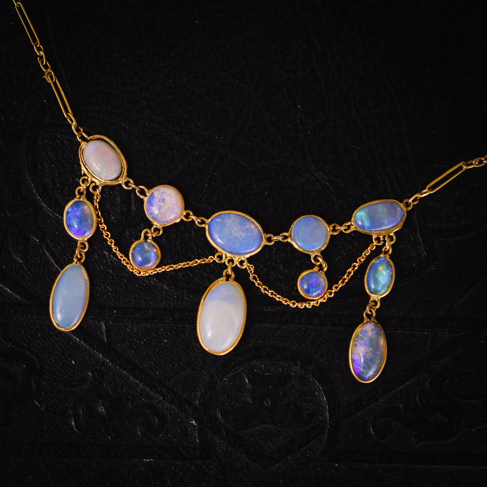 Edwardian Opal Swag Necklace