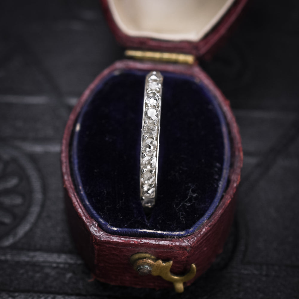 Art Deco Old Mine Cut Diamond Full Eternity Ring