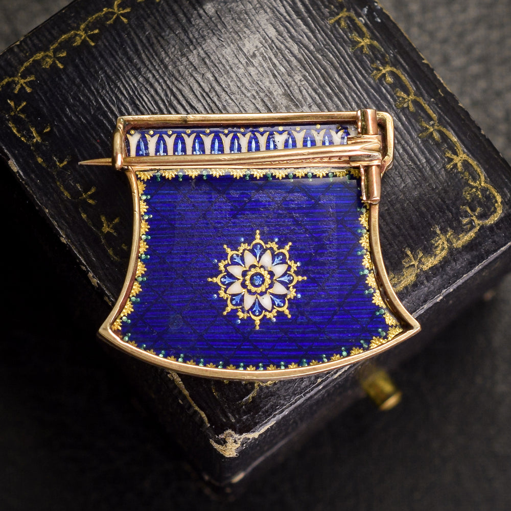 18th Century Enamelled Mourning Brooch