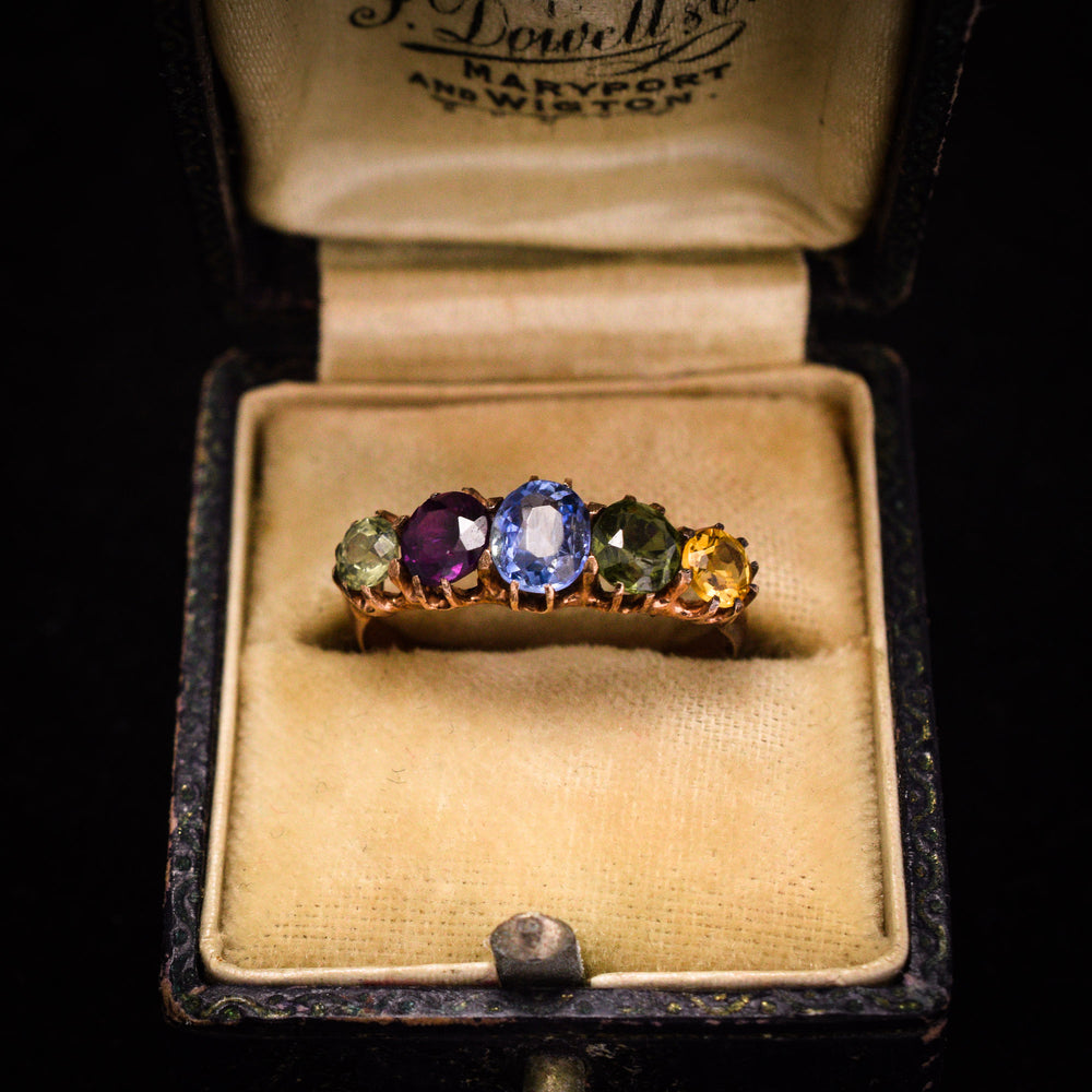 Victorian Harlequin 5-Stone Ring
