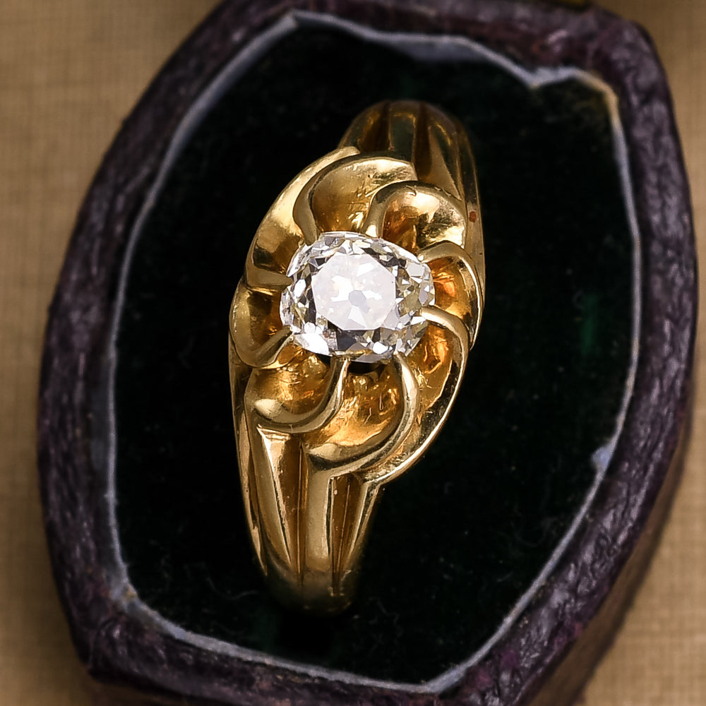 Art Nouveau OMC Diamond Swirled Gypsy Ring