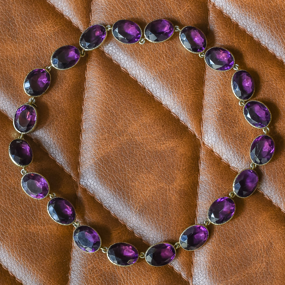 Georgian Amethyst Paste Rivière Necklace