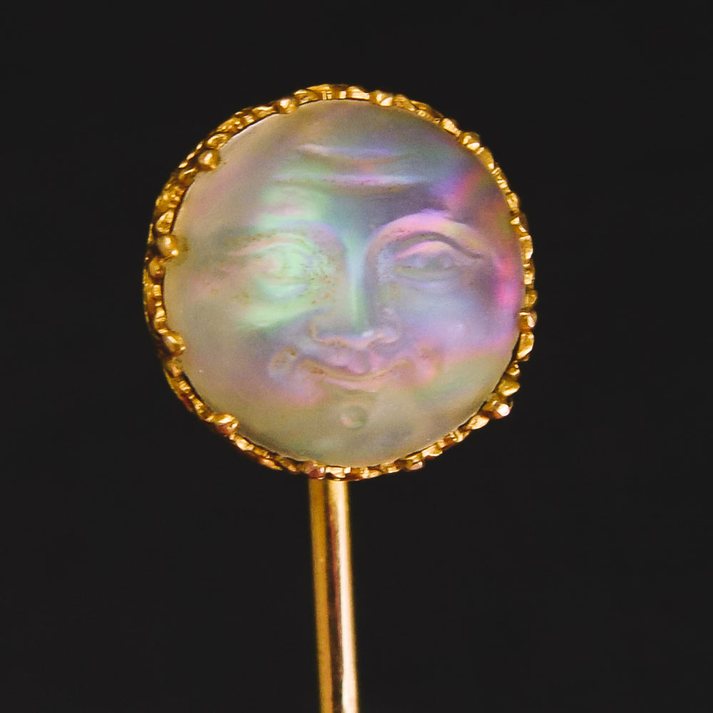 Victorian Man In The Moonstone Stick Pin