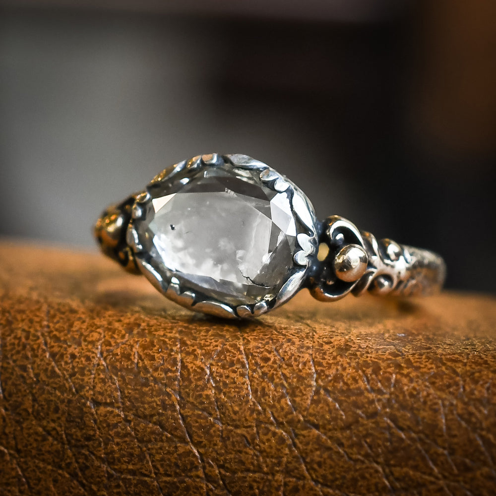 Georgian Oval Diamond Solitaire Ring