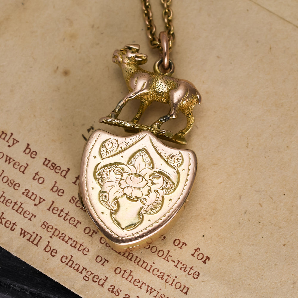 Mid-Victorian Masonic Shield Locket