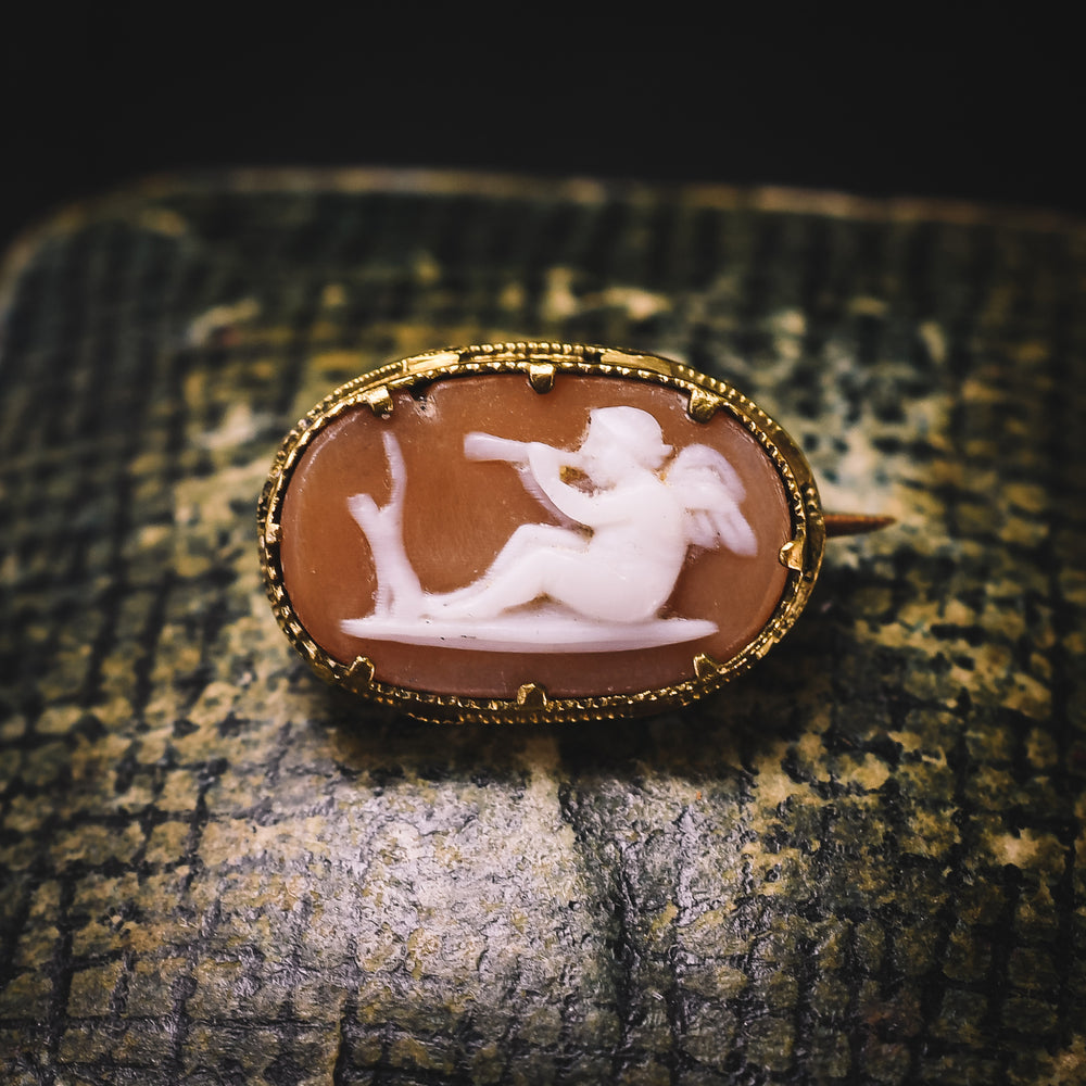 Georgian Eros Cameo Brooch