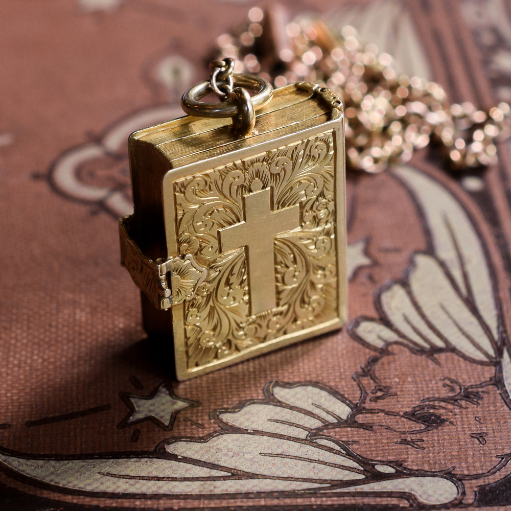 Mid-Victorian Gold Bible Locket