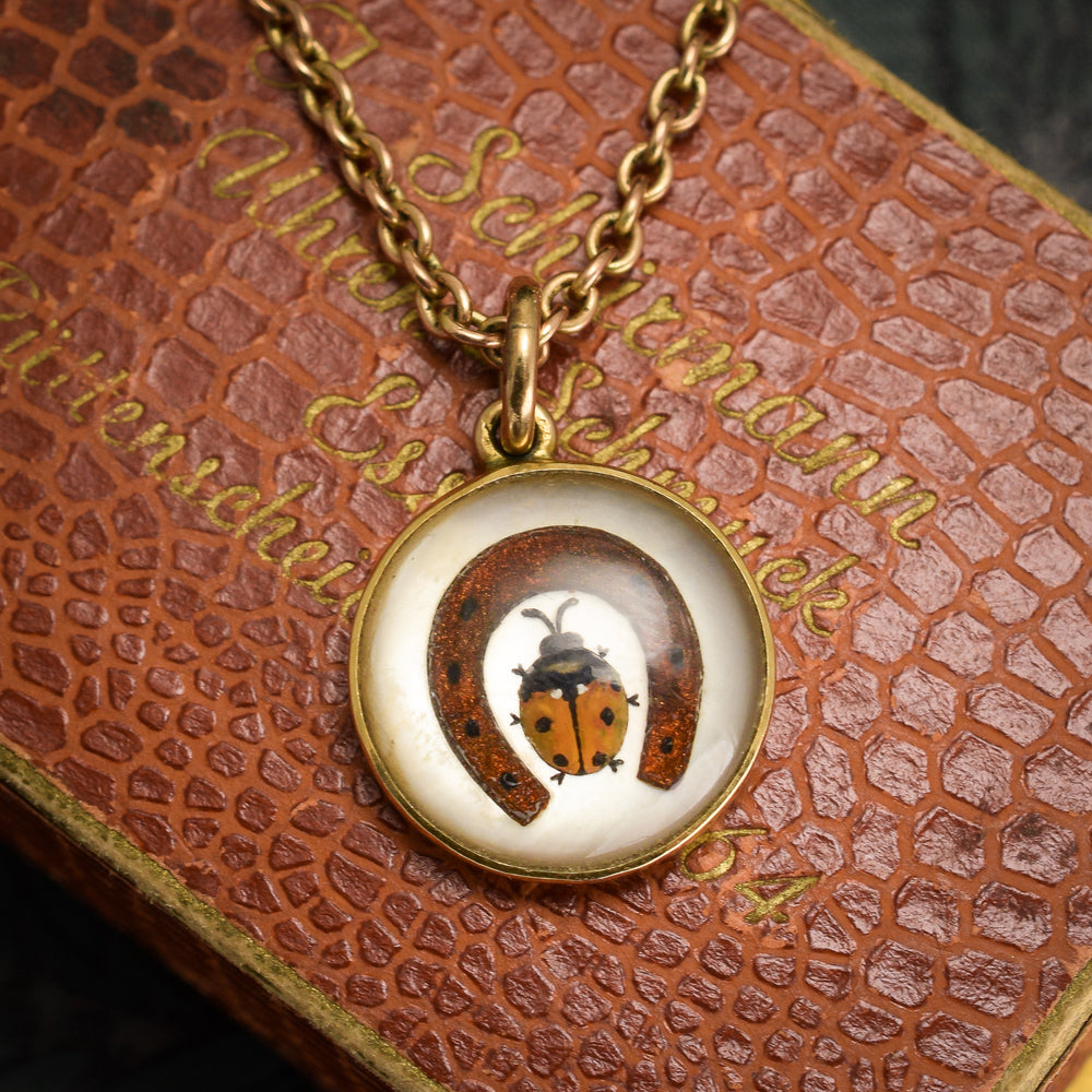 Victorian Essex Crystal Lucky Charms Pendant