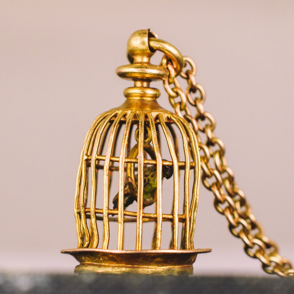 Georgian Bird Cage Seal Pendant