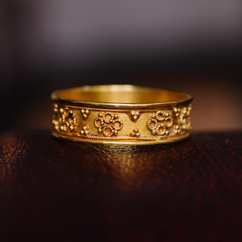 Victorian Etruscan Revival Gold Band