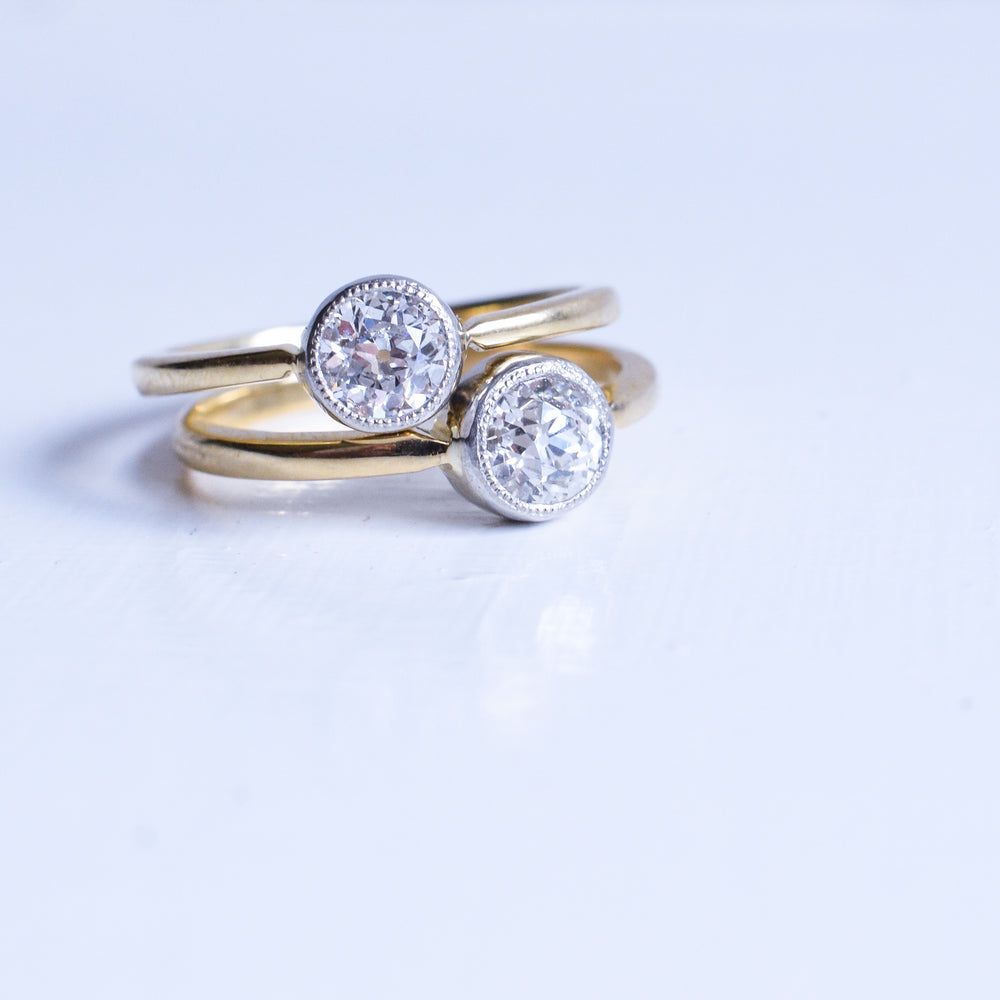 Bespoke .66ct Old Cut Diamond Solitaire Ring