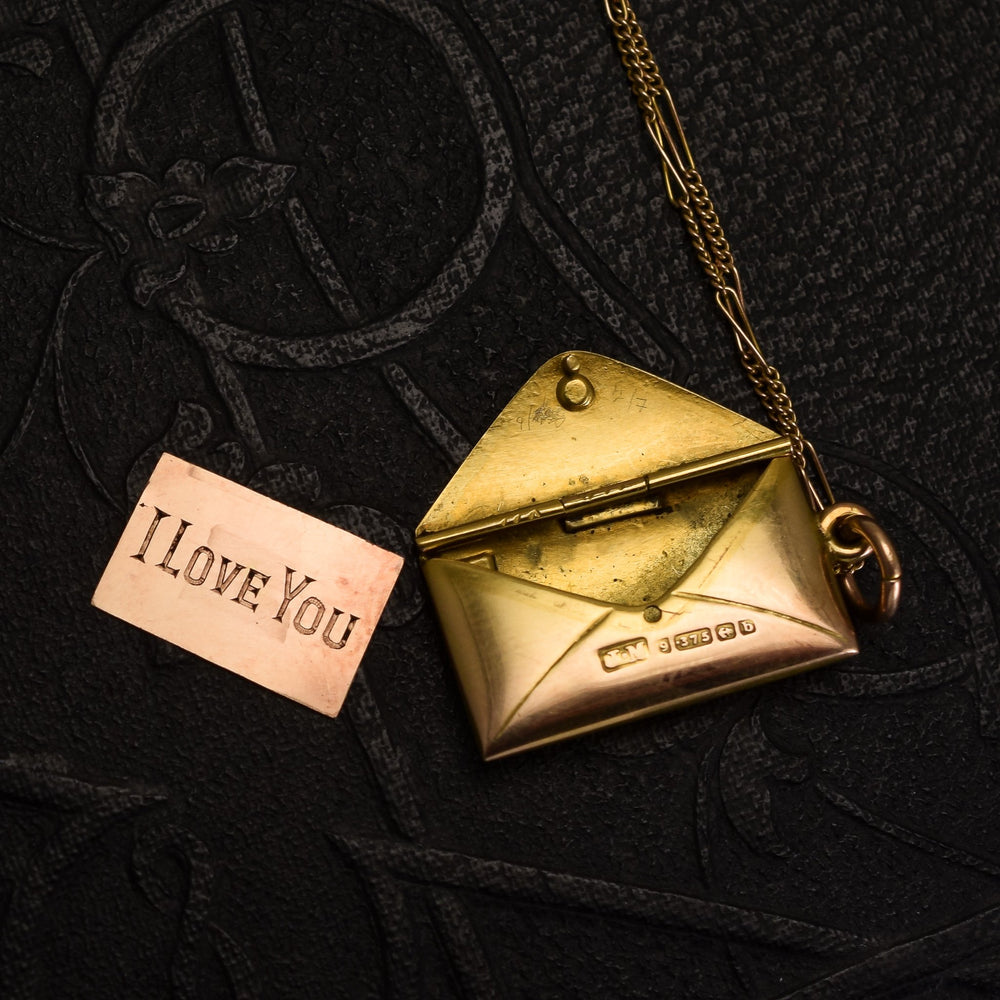 Victorian Gold Love Letter & Envelope Locket