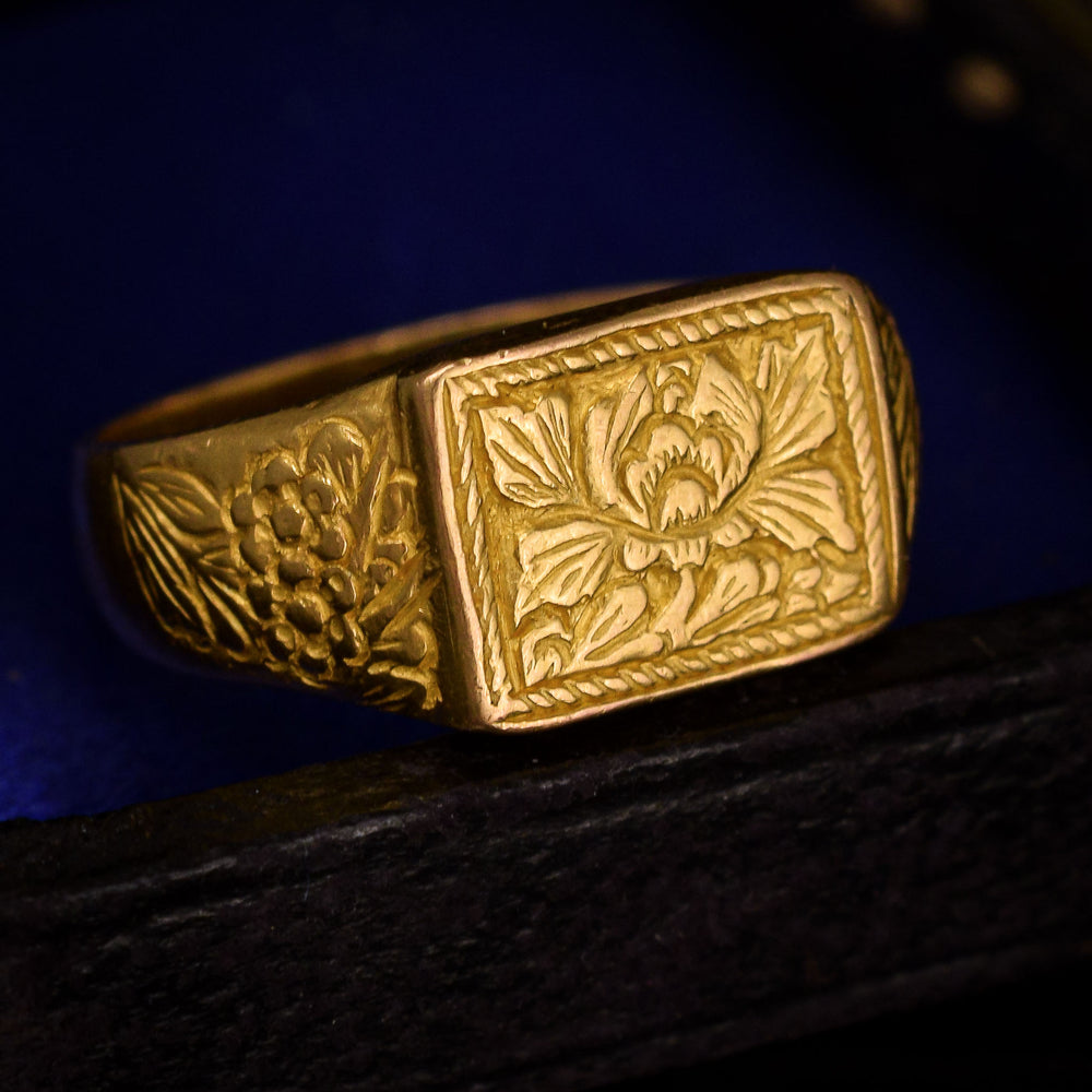 17th Century Floral Signet Ring