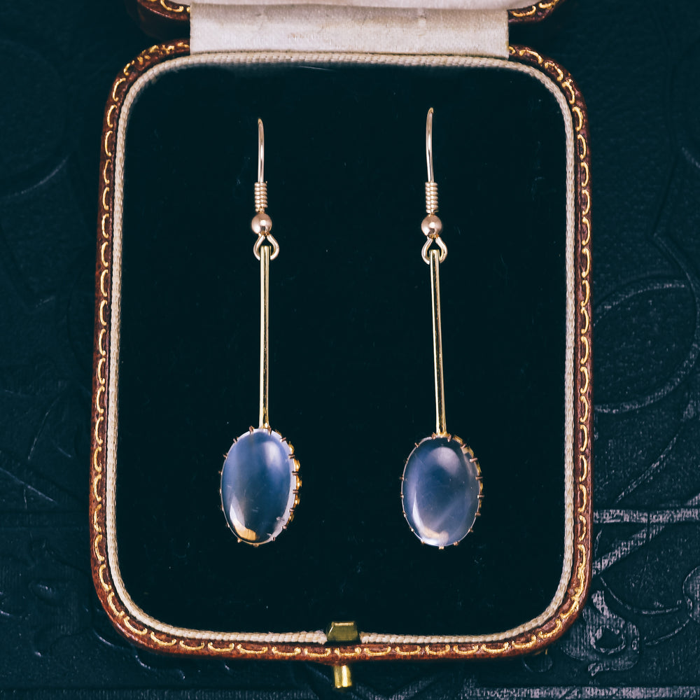 Victorian Moonstone Drop Earrings