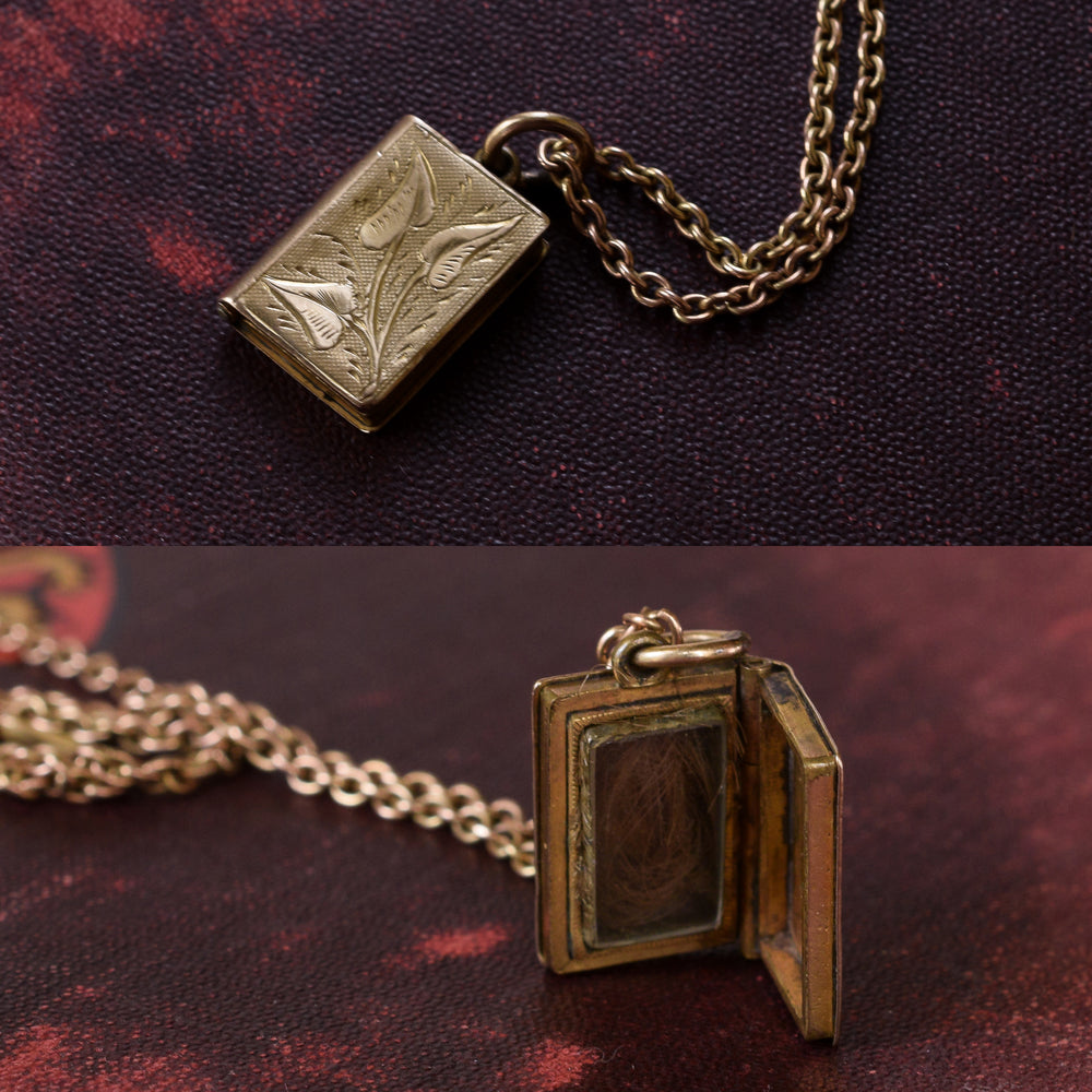 Mid-Victorian Gold Book Locket