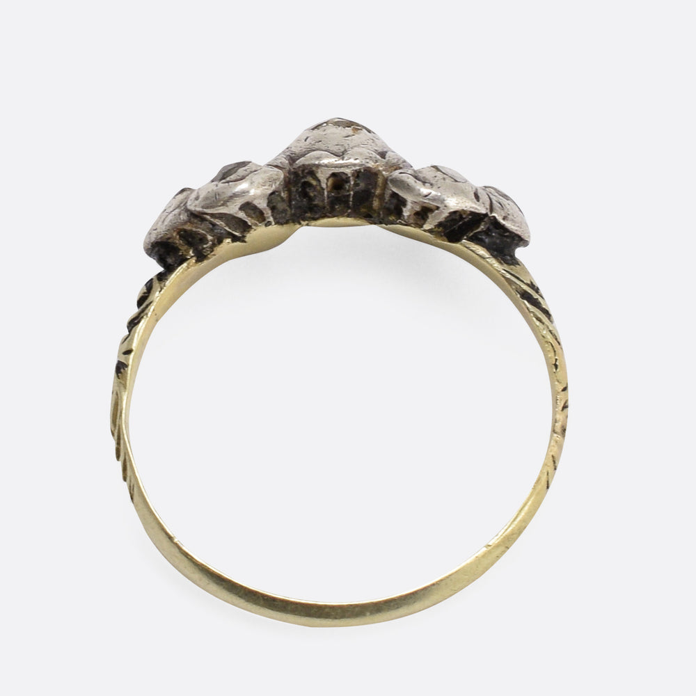 17th Century Diamond Bow Ring