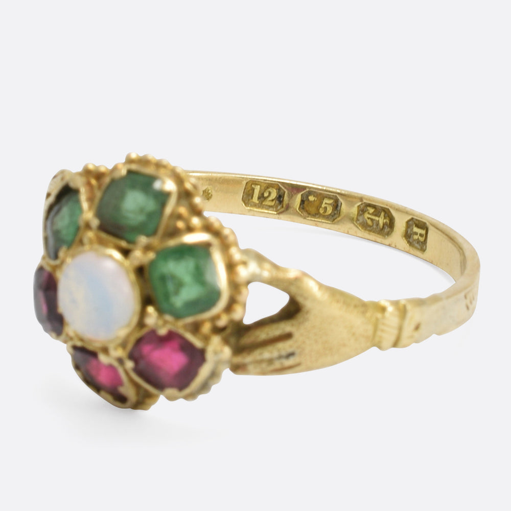 1866 Multi-Stone Fede Ring