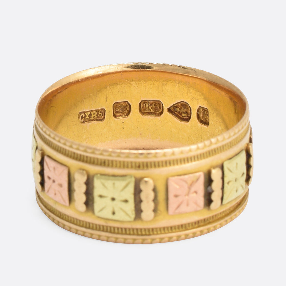 1880s Three-Tone Gold Wedding Band
