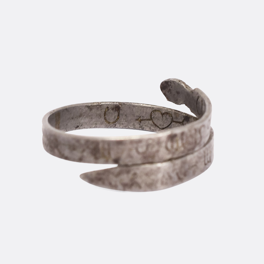 18th Century Zodiac Snake Betrothal Ring