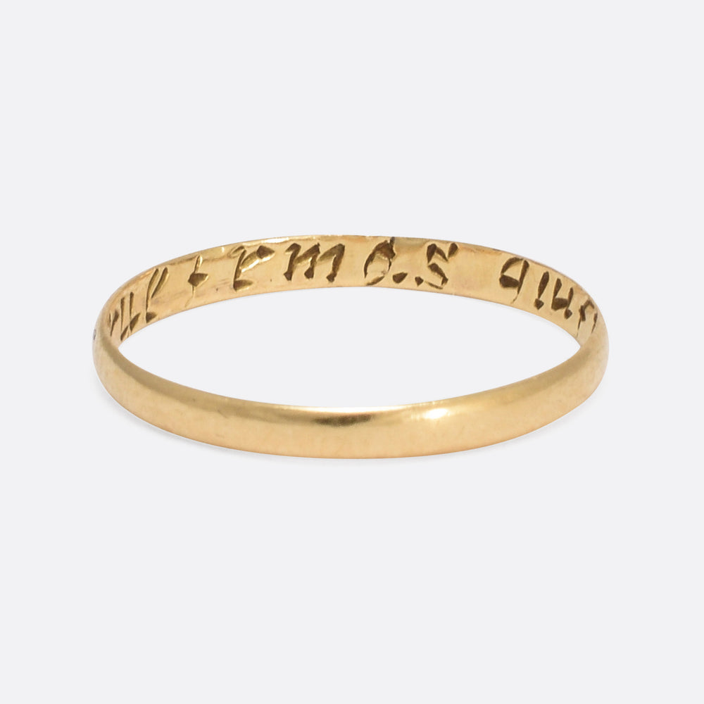 18th Century A True Friend's Gift Posy Ring