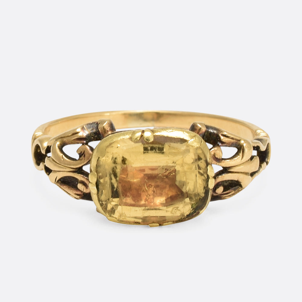 18th Century Georgian Citrine Ring