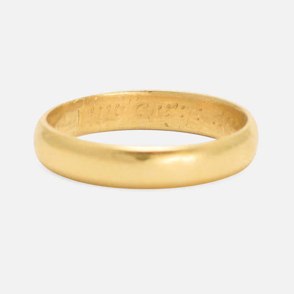 18th Century Gold Posy Ring In Christ & Thee My Comfort Bee
