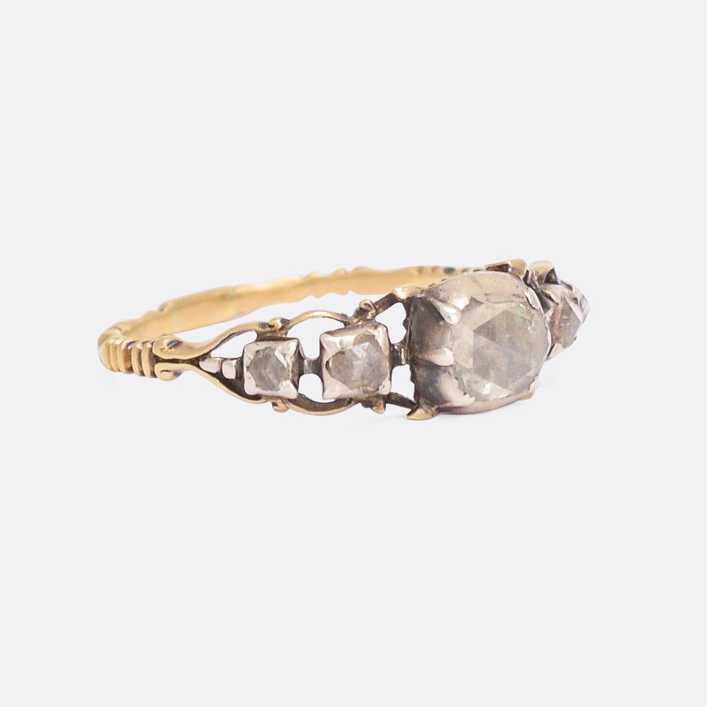 18th Century Rose Diamond 5-Stone Ring