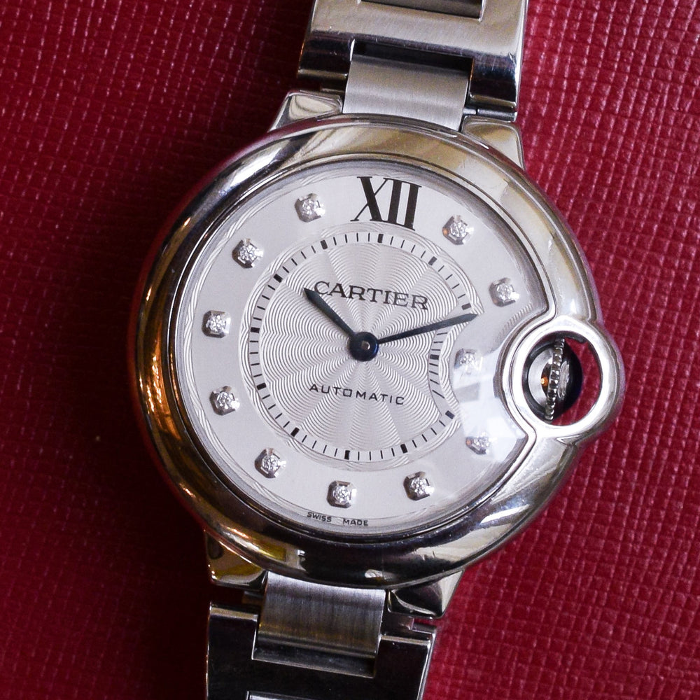 Cartier Ballon De Bleu Diamond Wristwatch