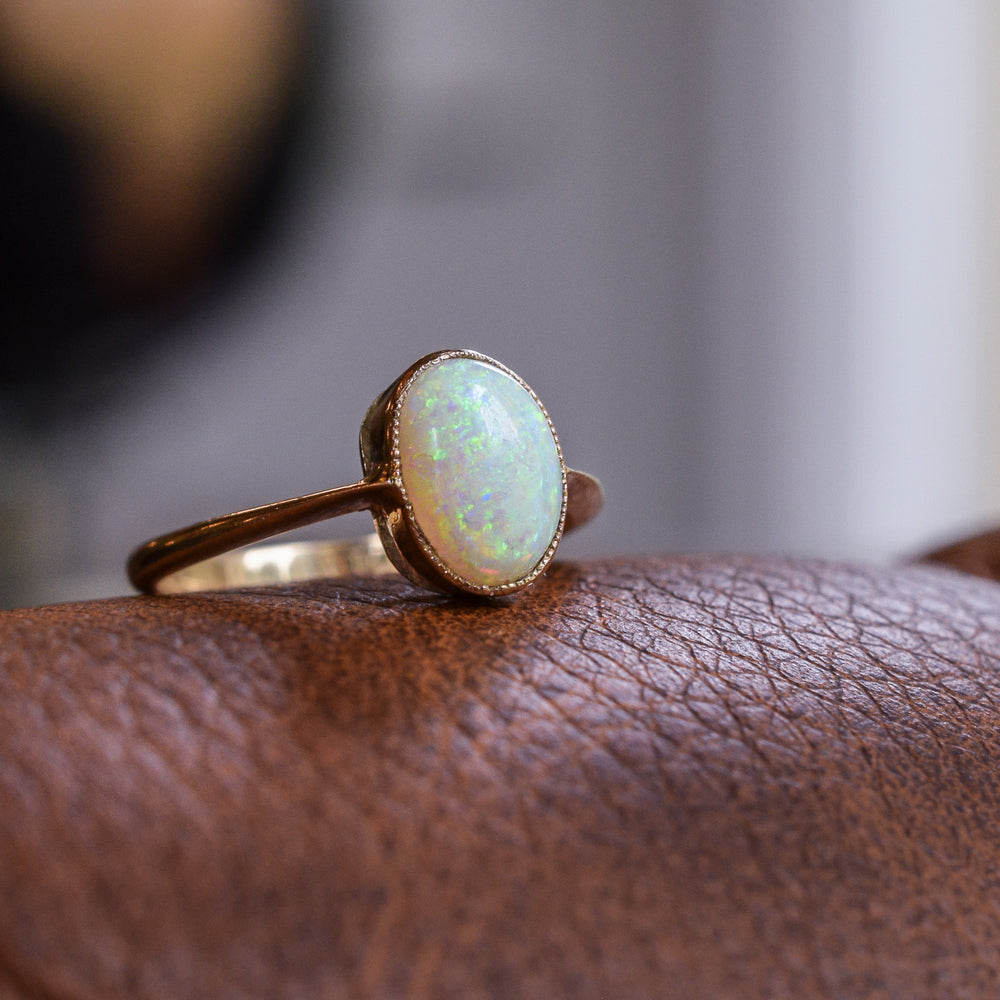 Edwardian Opal Solitaire Ring