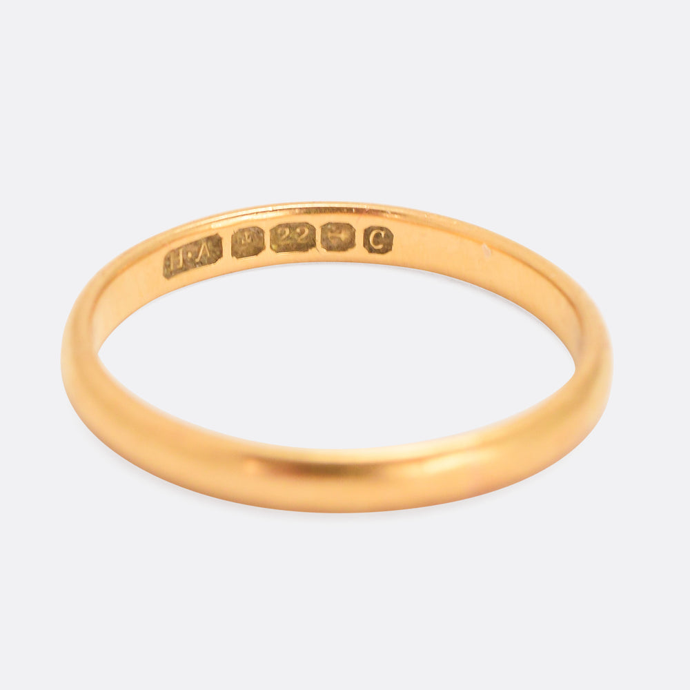 1920s 22k Gold Wedding Ring