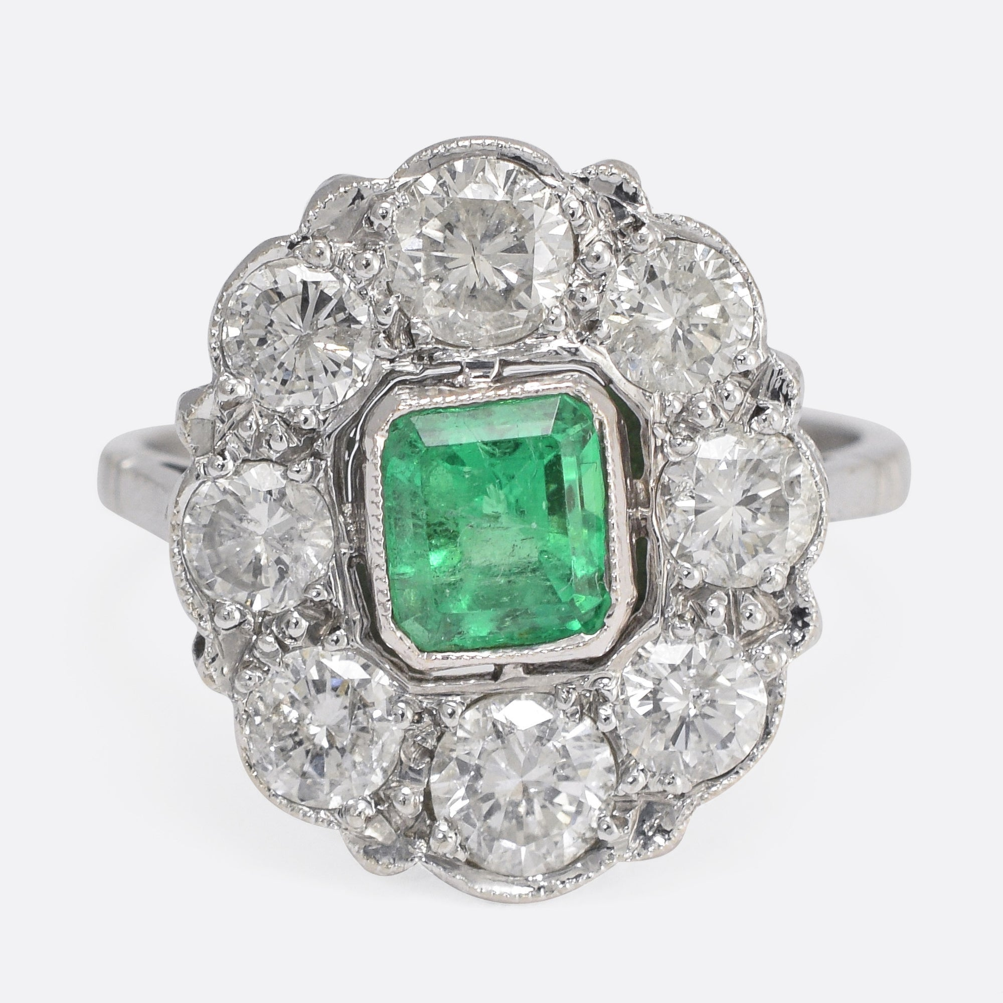 product emeral ring emerald carat cut william noble rings