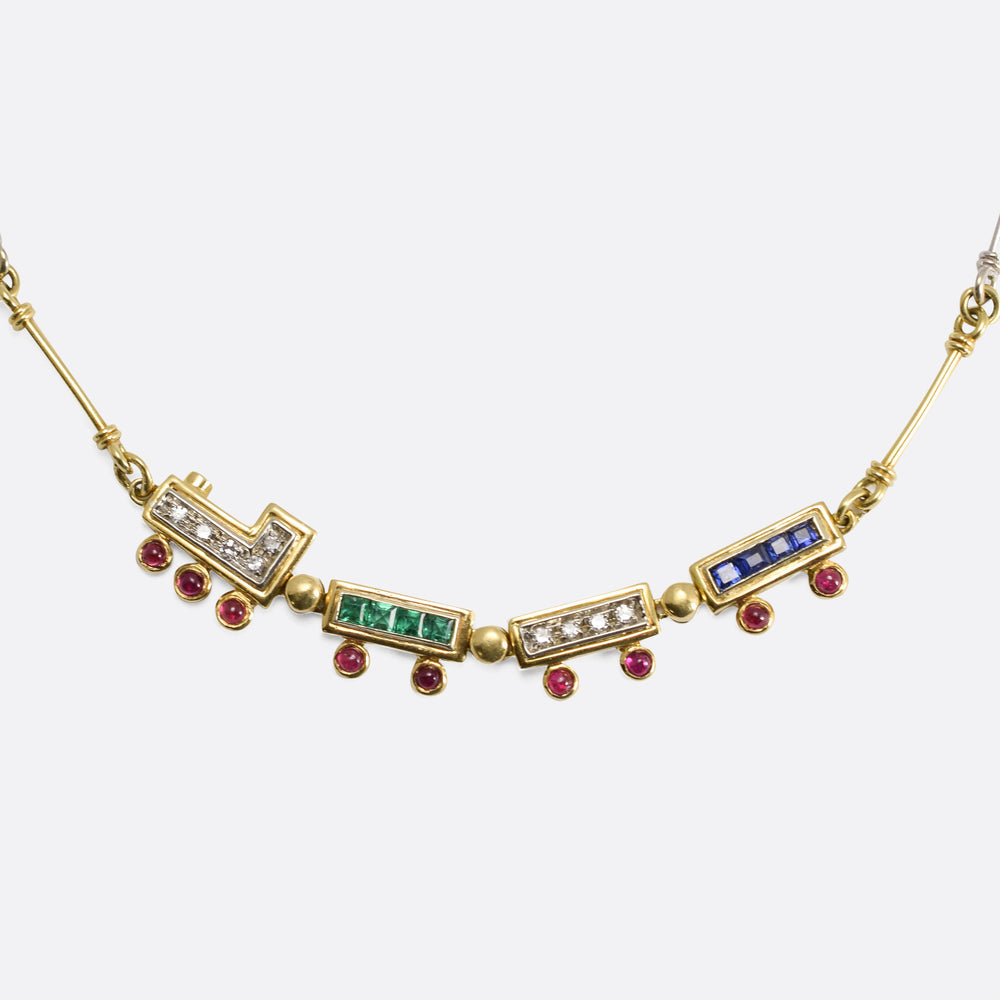 Van Cleef & Arpels Gem-Set Train Necklace
