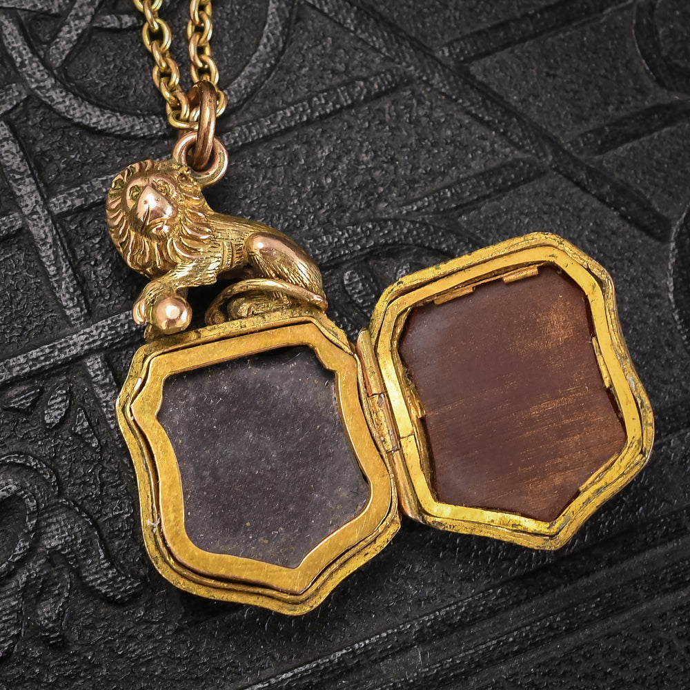 Victorian Lion & Shield Locket