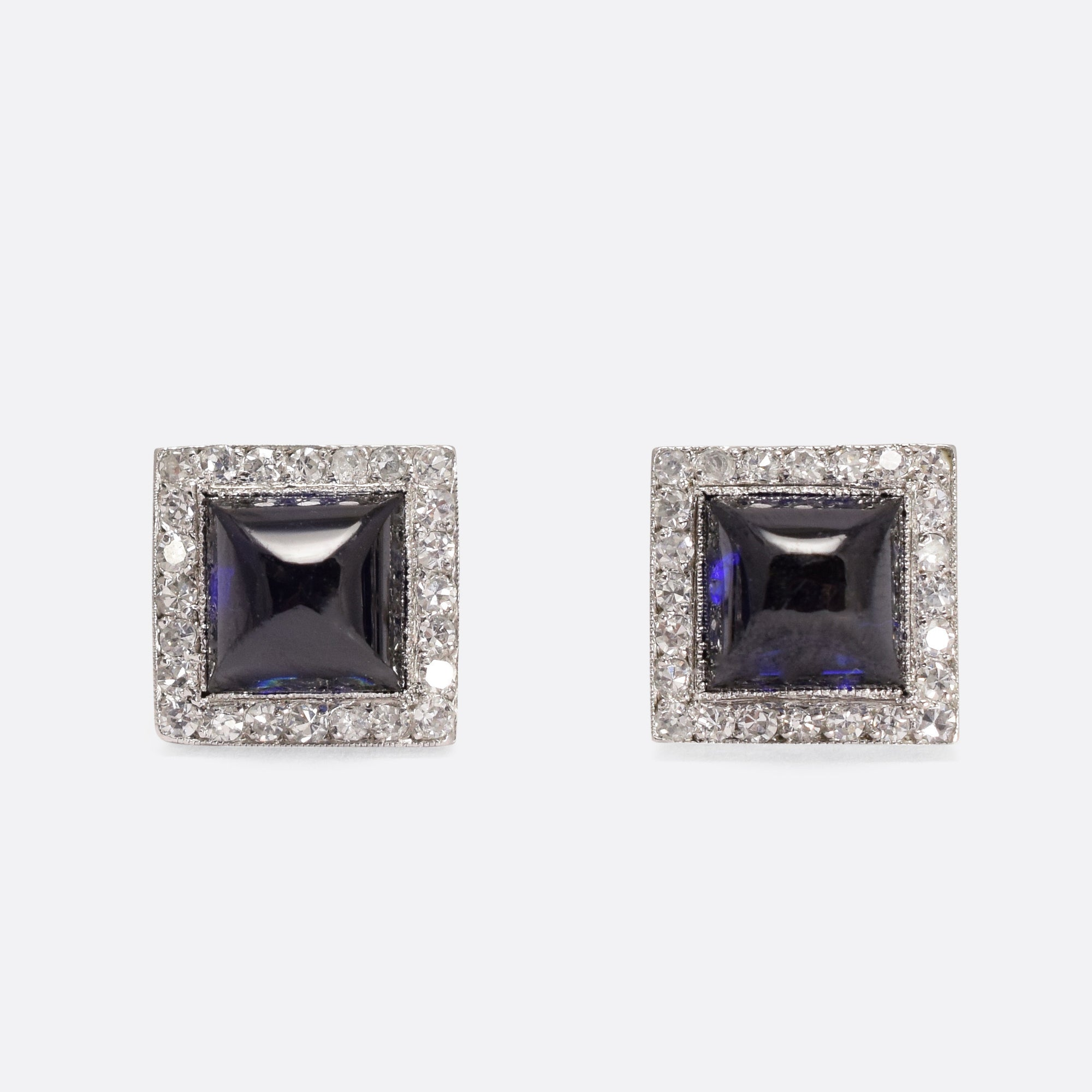 vintage diamond deco earrings us art com stud klepners visit antique at pin