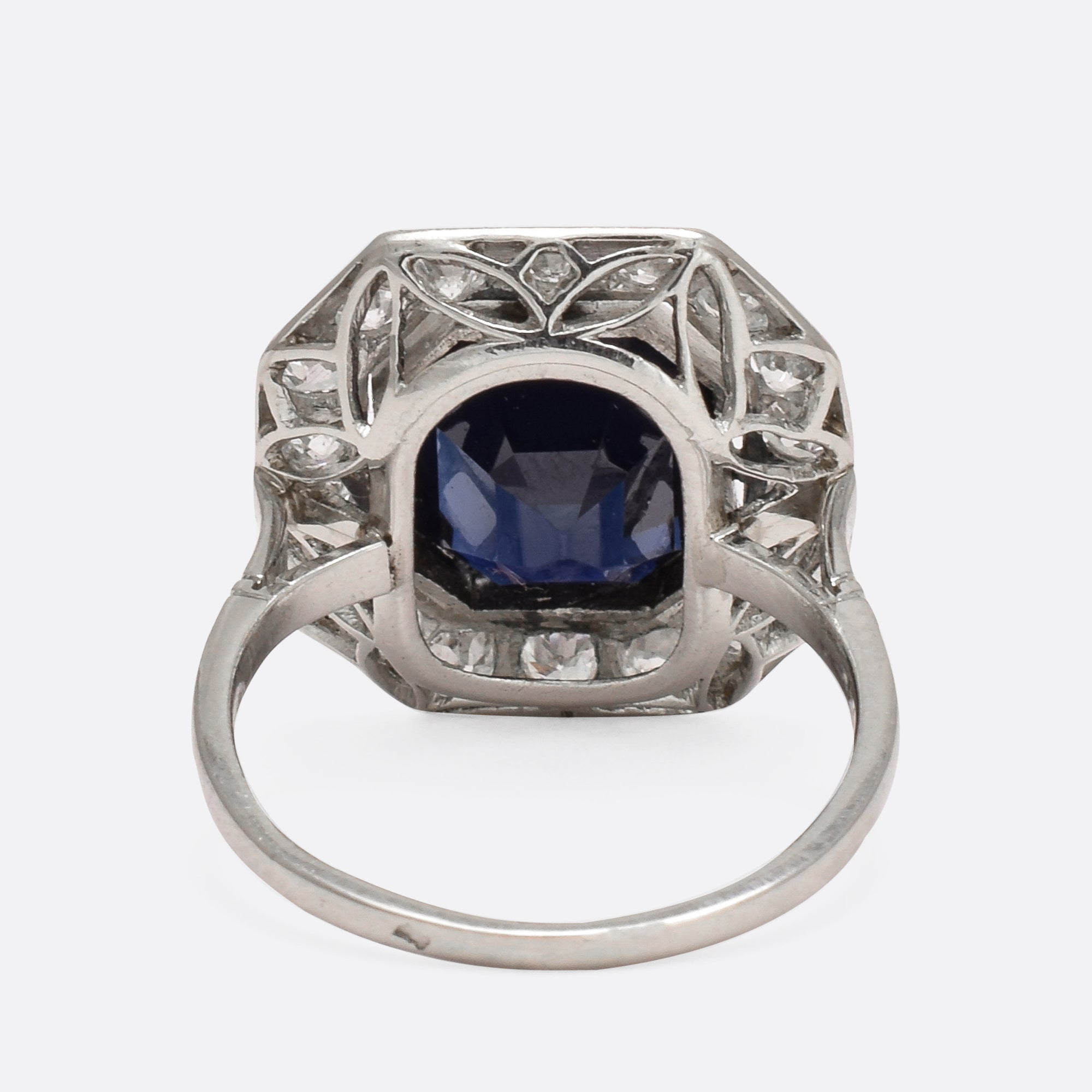 no blue french carat deco burma art sapphire diamond ring and heat