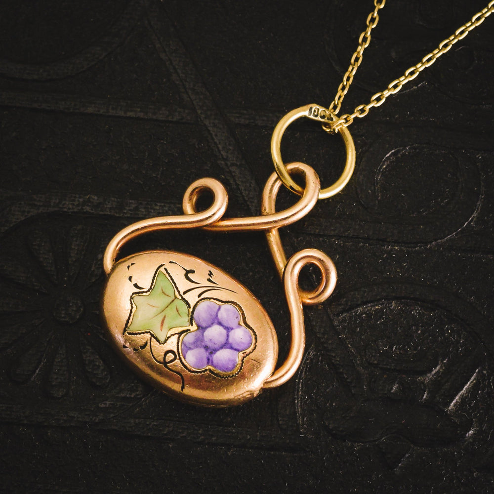 Victorian Grape & Vine Spinner Pendant