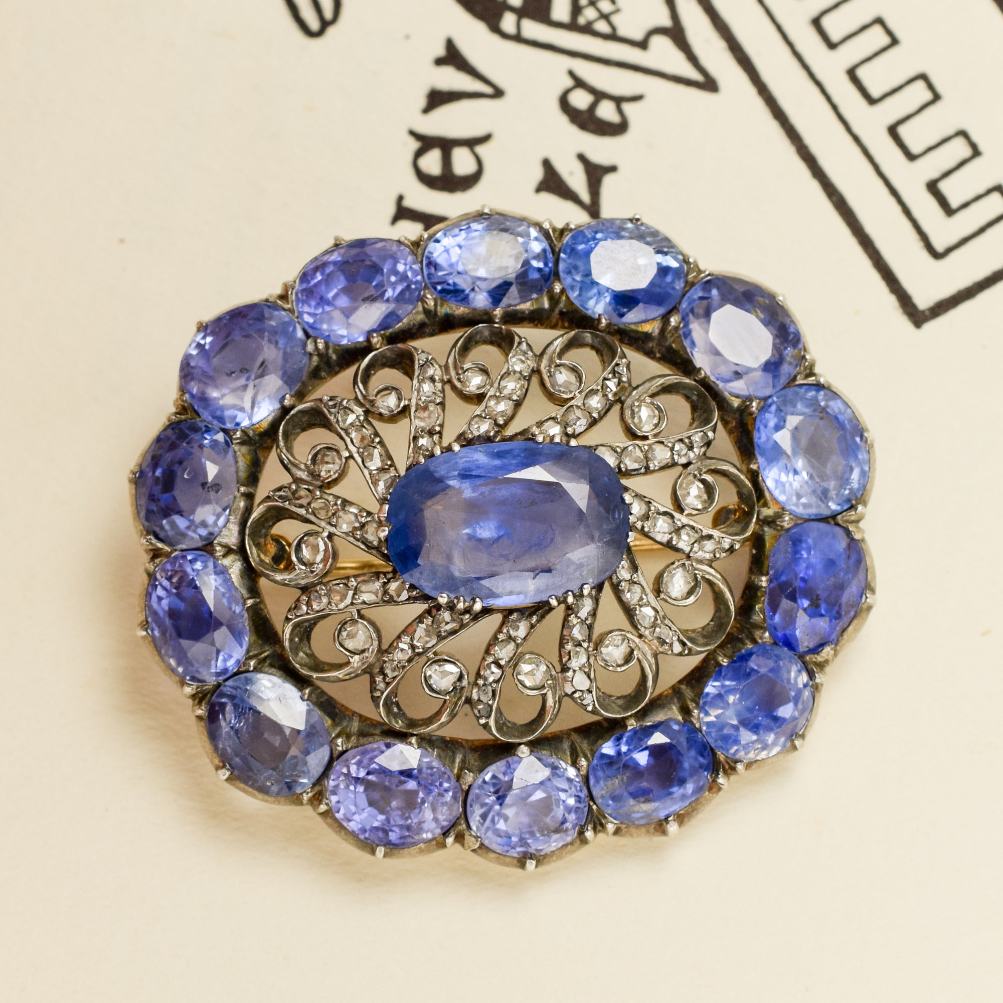 bar exeter and diamond pin product estate brooch sapphire edwardian jewelers platinum